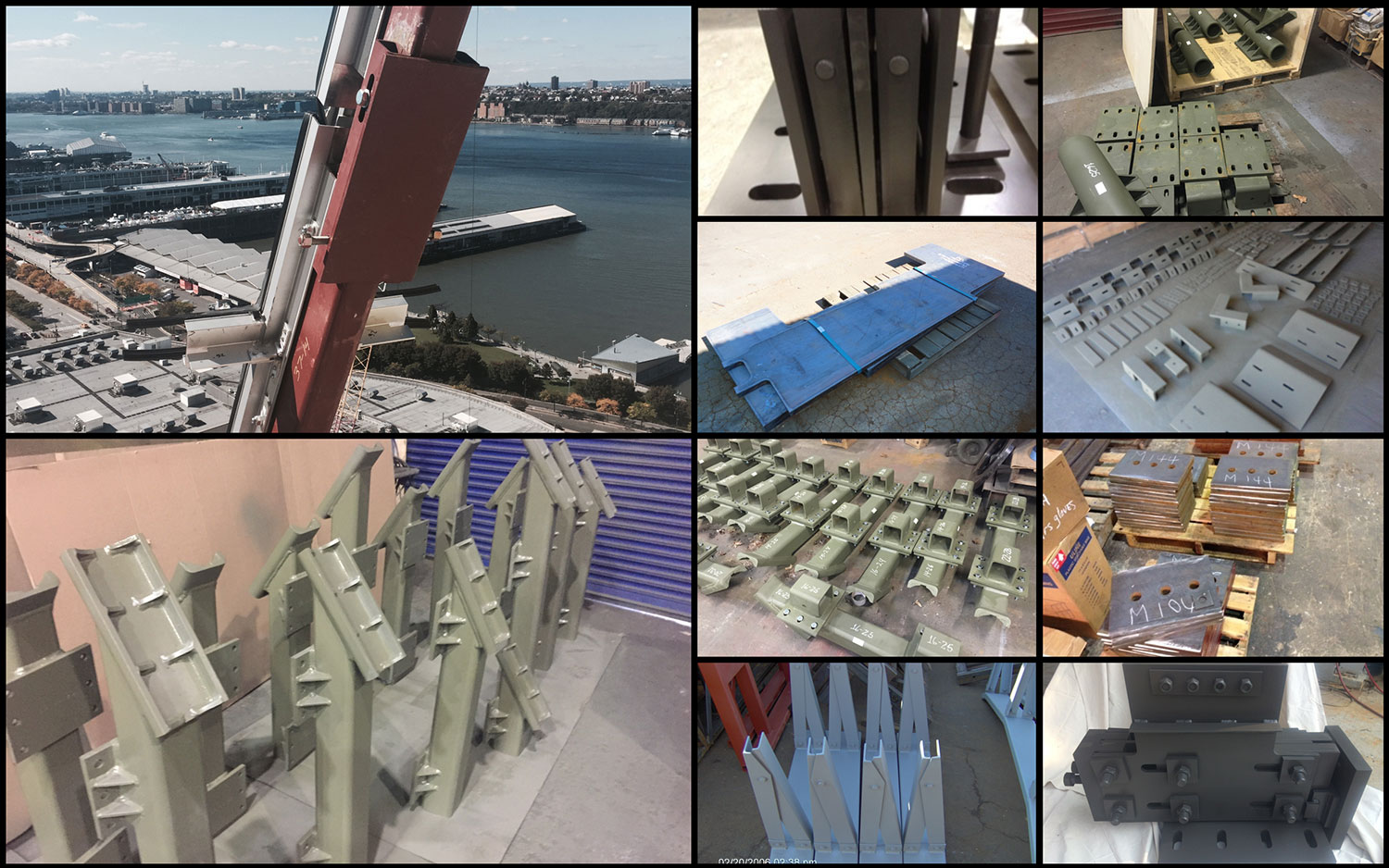 5 Steel Parts for Curtainwall collage